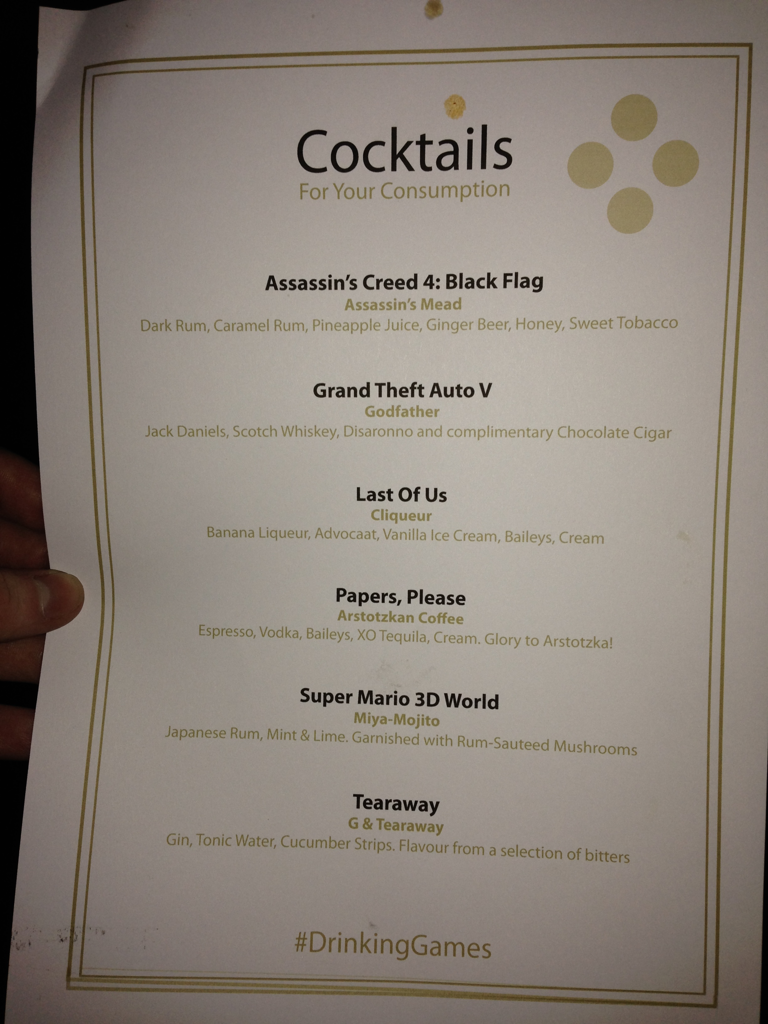 2014-03-12 23.21.51 BAFTAs - cocktail menu