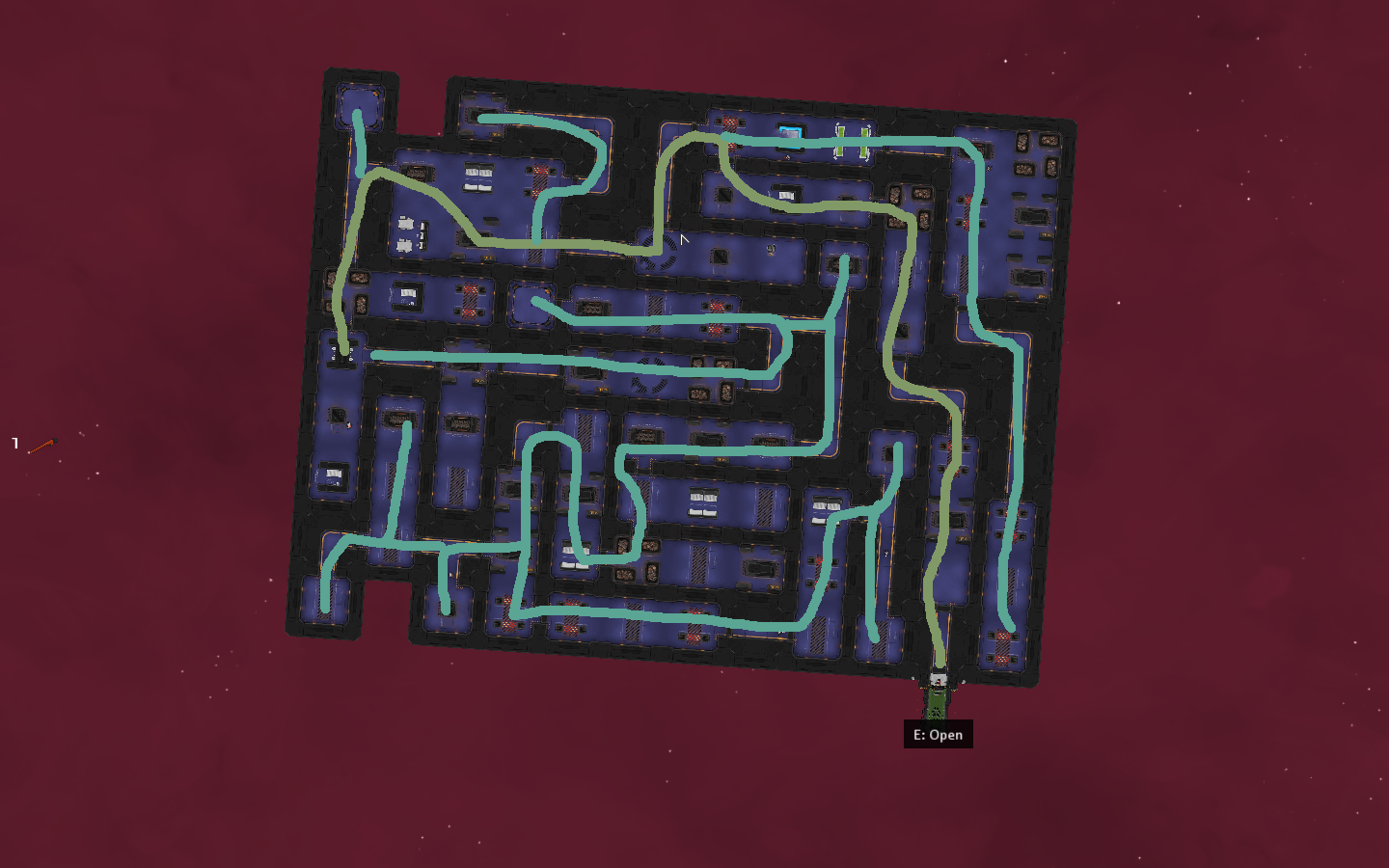 Large Drunk Snake Paths