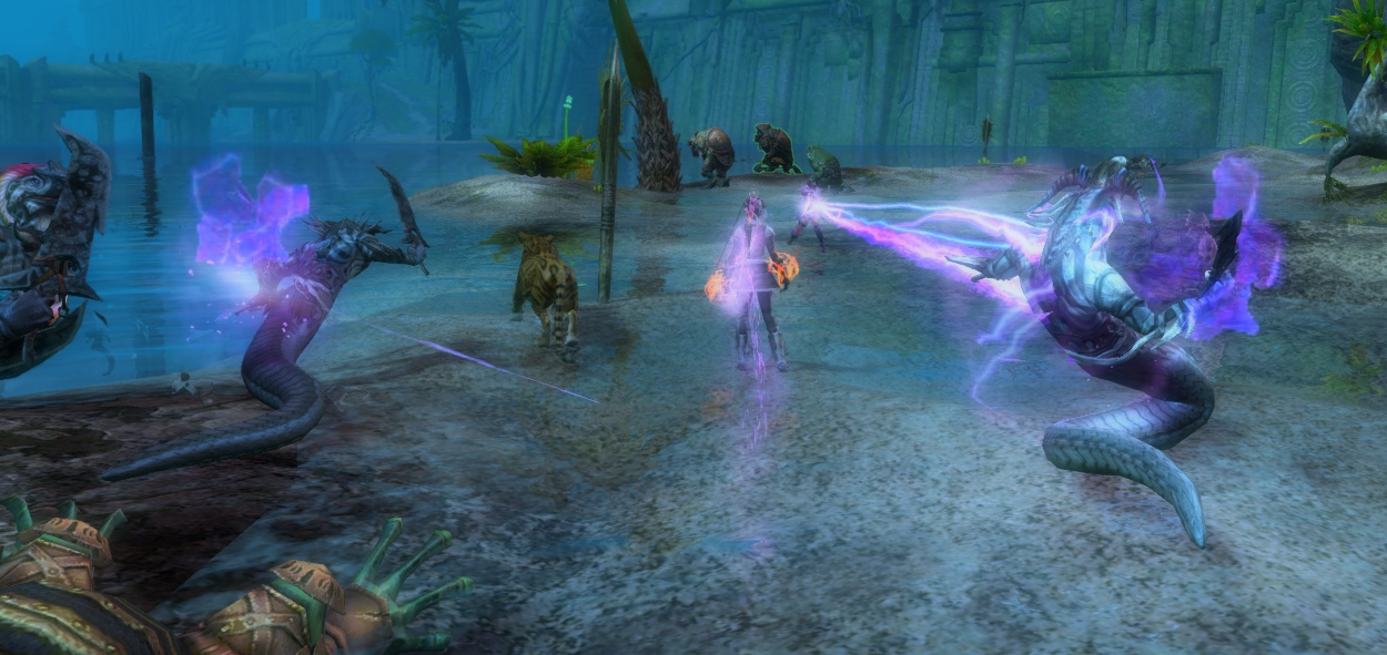 Seeing someone do that purple beam thing with a sword was what made me start a Mesmer. I like them, but eventually went back to the more physical classes.