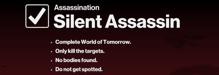 Silent Assassin challenge