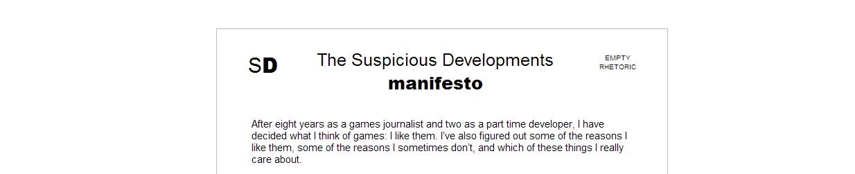 Suspicious Manifesto